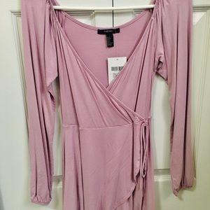 Forever 21 lavender wrap dress